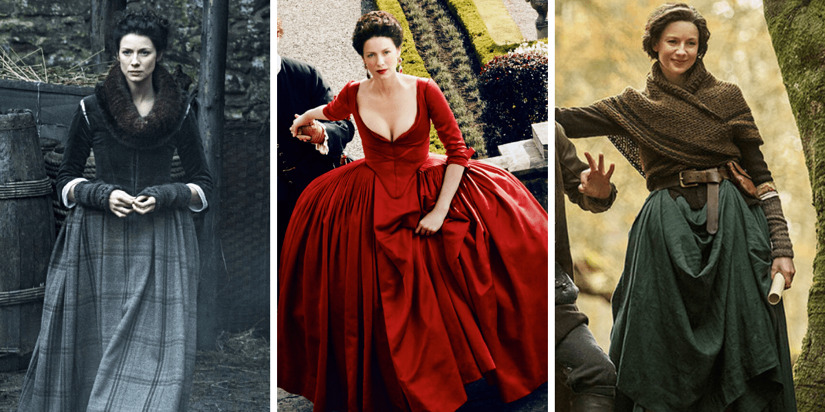 Plus Size Claire Fraser Casual Cosplay