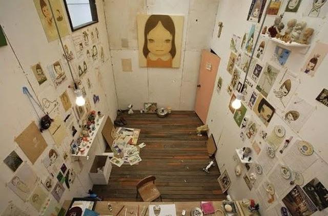 The Workspace of Yoshitomo Nara
