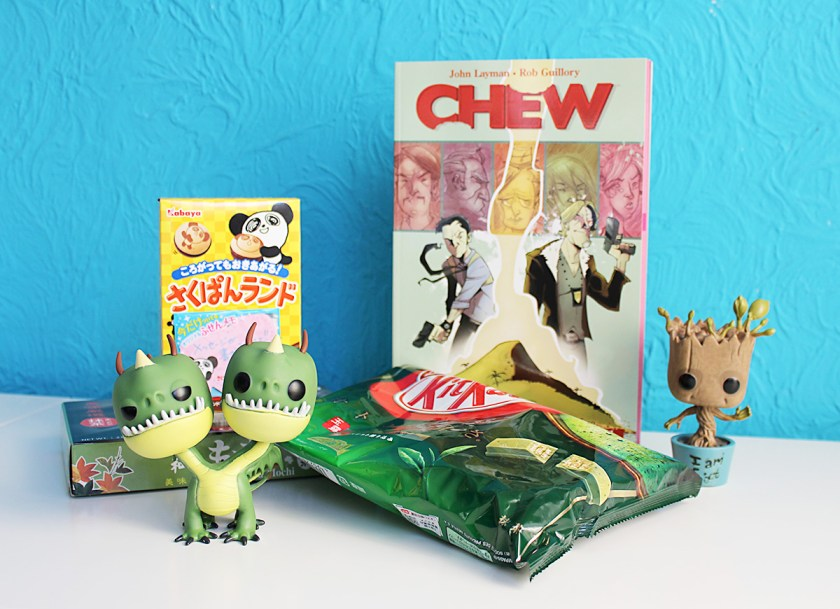Last Week - The FACTS Haul (a new Chew Comic, two POP figurines and a bunch of Japanese candy)