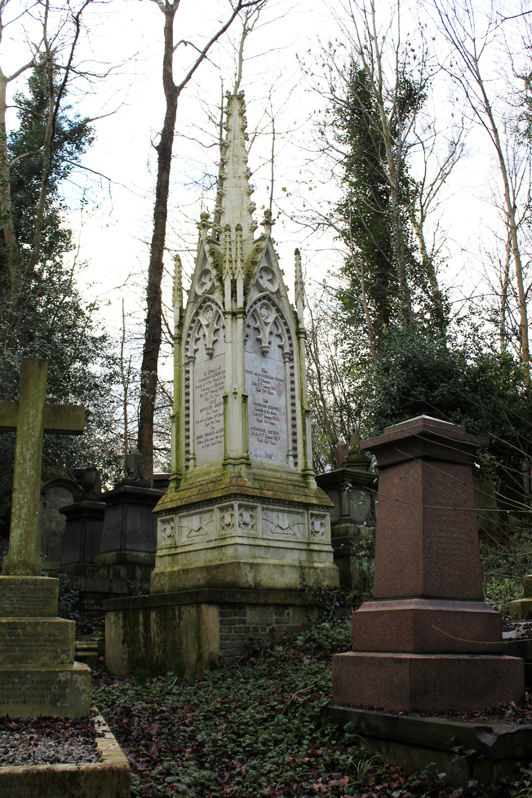 London Citytrip - Trees, moss and a Victorian graveyard at Highgate cemetery