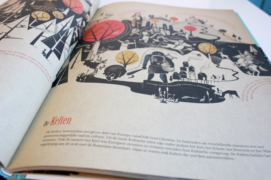 Winter book haul - Some fine illustrations in Tijdlijn / Timeline by Peter Goes