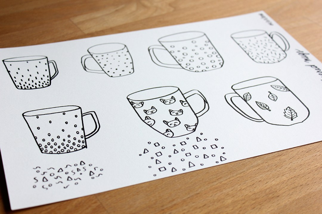 How to: painted porcelain mugs