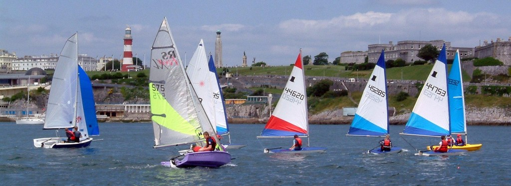 young people sailing in Plymouth sound