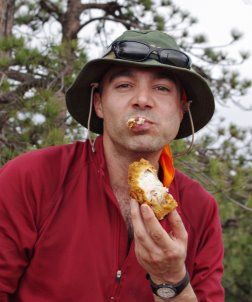 1a787fd9884e6 Boonie hat while hiking. Fried chicken optional!