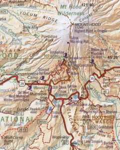 Map OR MtHood Benchmark