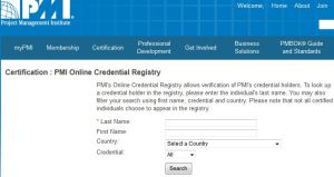 PMP certification check online