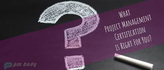 project management certification is right