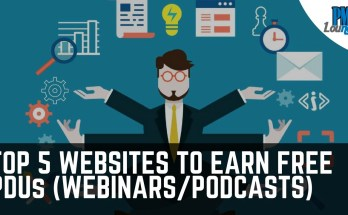 top 5 websites to earn free pdu - Top 5 websites to earn free PDUs (webinars/podcasts)