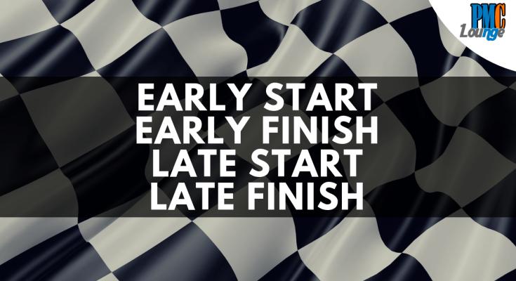 early start early finish late start late finish calculation