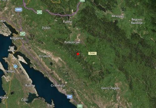 Slab potres u zaleđu Crikvenice
