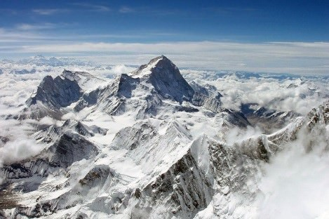 Alpine or young fold mountains - himalayas - alps