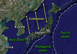 formation of sea of japan