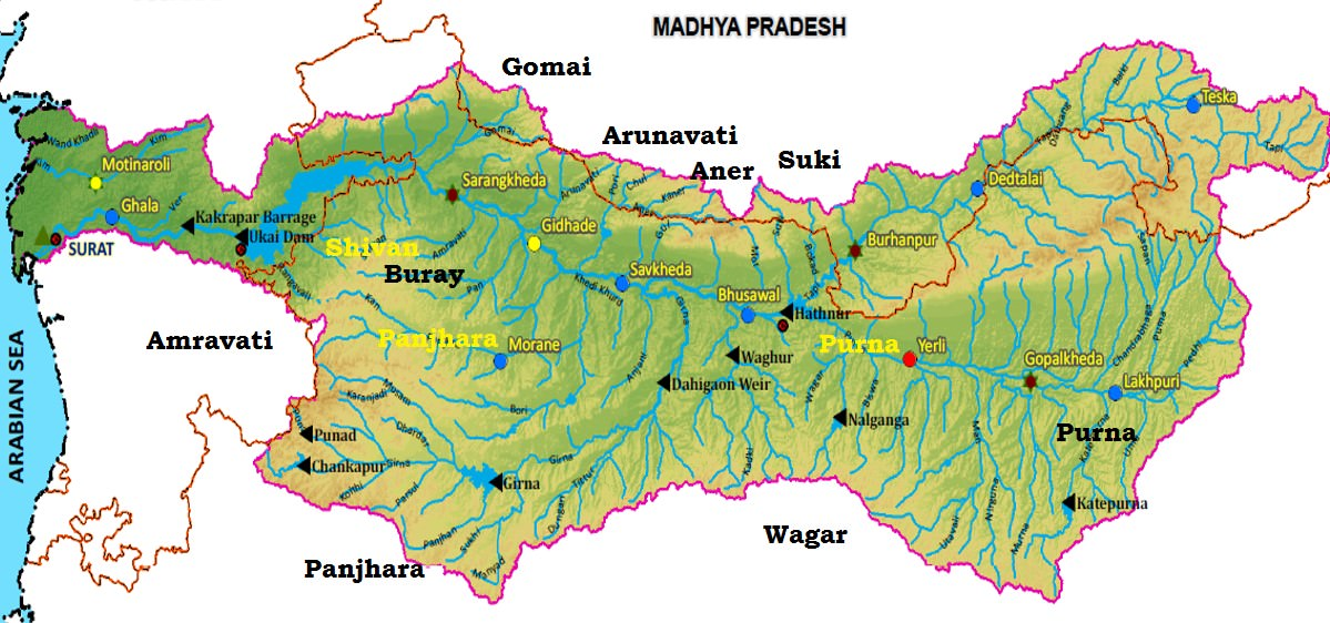 Tapti river basin - West Flowing Rivers