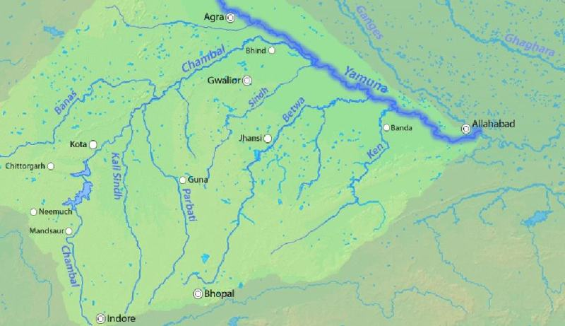 yamuna river tributaries-son-ken-betwa-banas
