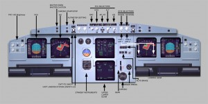 Airbus cockpit poster