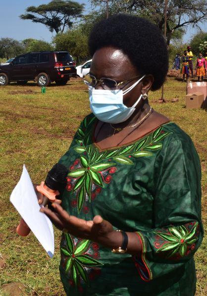 Minister Kitutu delivers her message