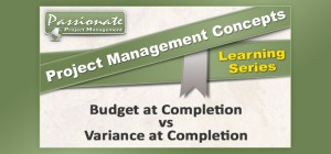 Budget at Completion vs Variance at Completion
