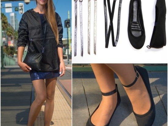 5 style option Flipslip travel shoes