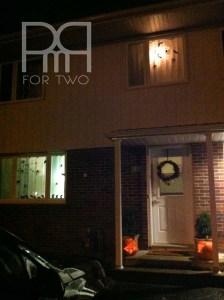 halloween silhouette window decor  with lights