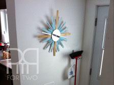 DIY sunburt mirror multi colored