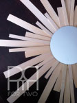 balsam wood DIY mirror