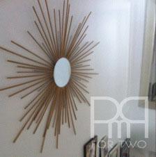 diy starburst star mirror
