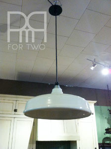 white barn light fixture