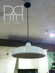 white barn light fixture