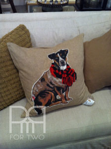 Pottery barn christmas dog pillow