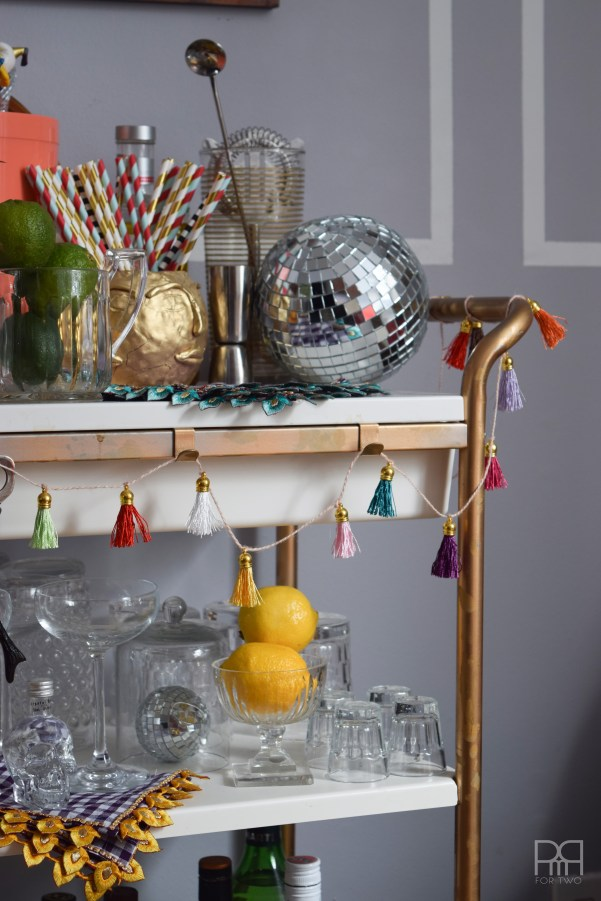bar cart styled