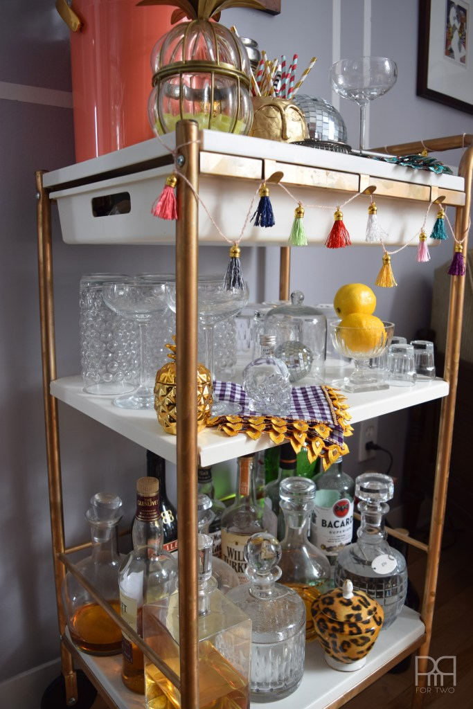 bar cart decorated