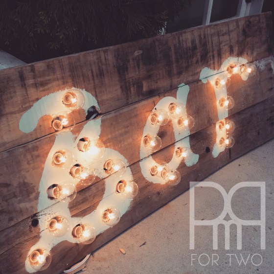 DIY marquee lights sign finished