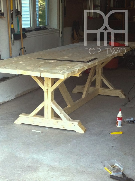 harvest table DIY unfinished