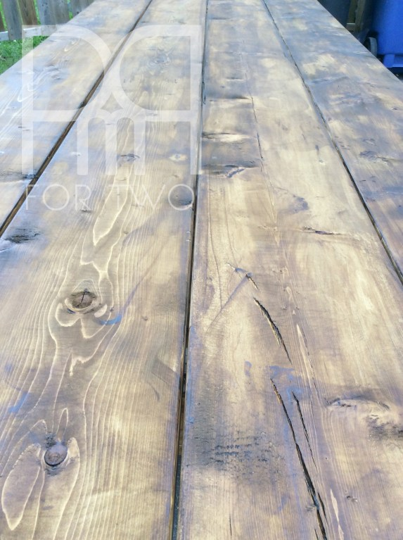 harvest stained table DIY