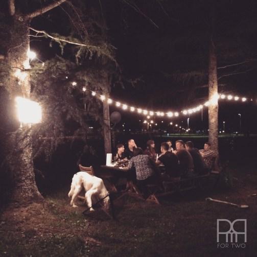 backyard dinner 1