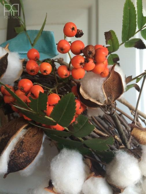 cotton bud fall wreath 4
