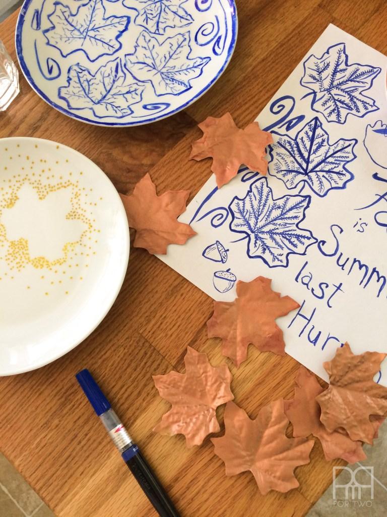DIY Fall Themed Plates