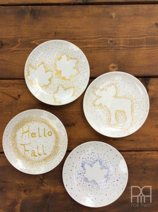 fall plates diy 3