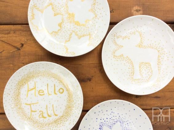 fall plates diy 4