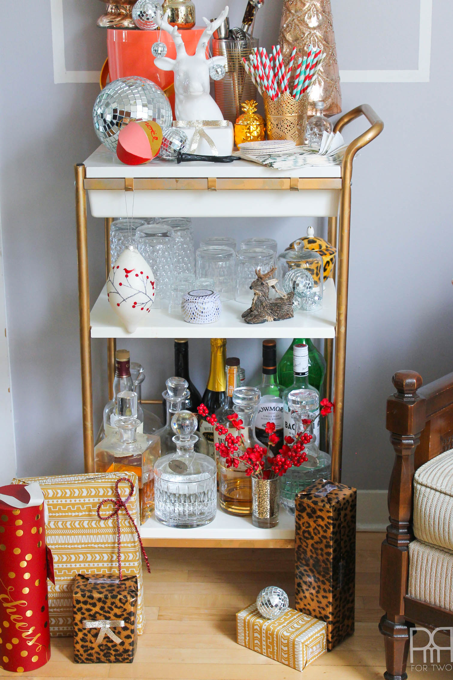 living room bar cart