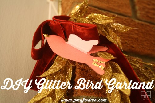 DIY glitter bird garland