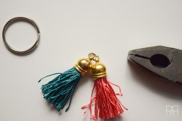 tassel keychain together