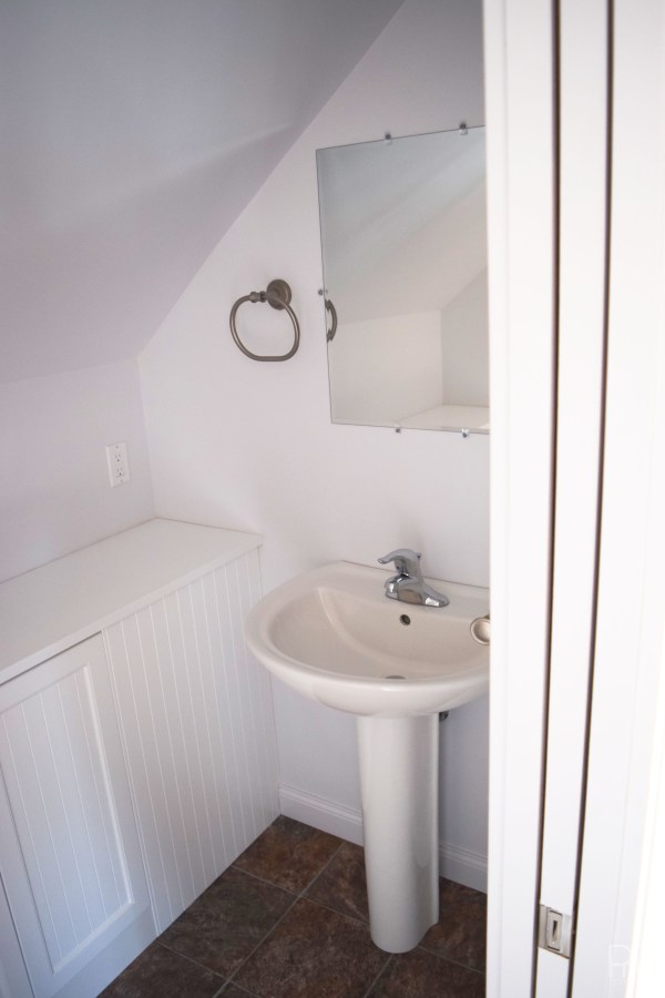 Our new PMQ powder room seen from master