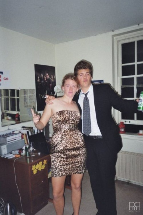 All dressed-up for the Saints ball with my brother who was also attending (as a first year)