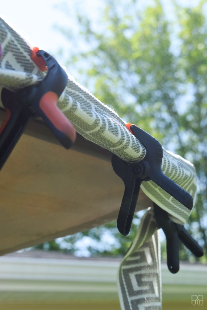 Painting Patio Umbrella with clamps