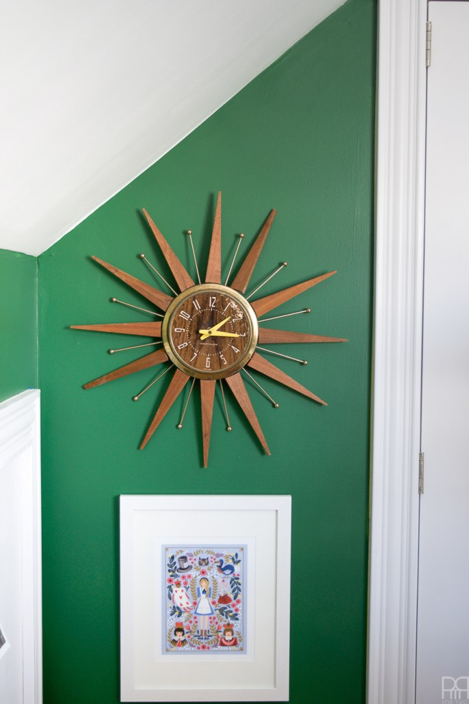 Home Office Reveal - The Green Grotto clock
