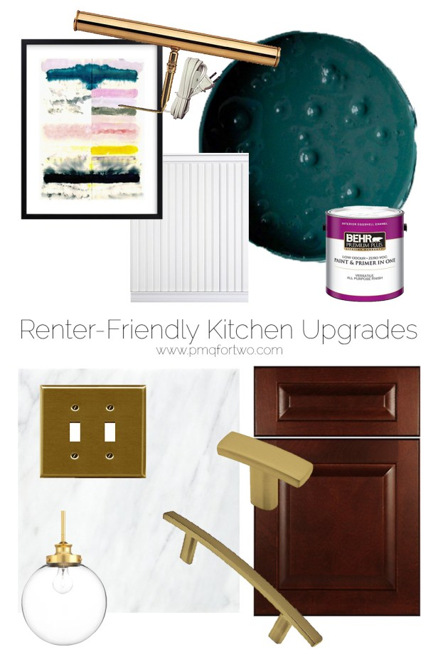 Using paint and affordable pieces, I'm working on renter friendly kitchen upgrades with Behr paint. Turning my space from BLA to WOW on a budget