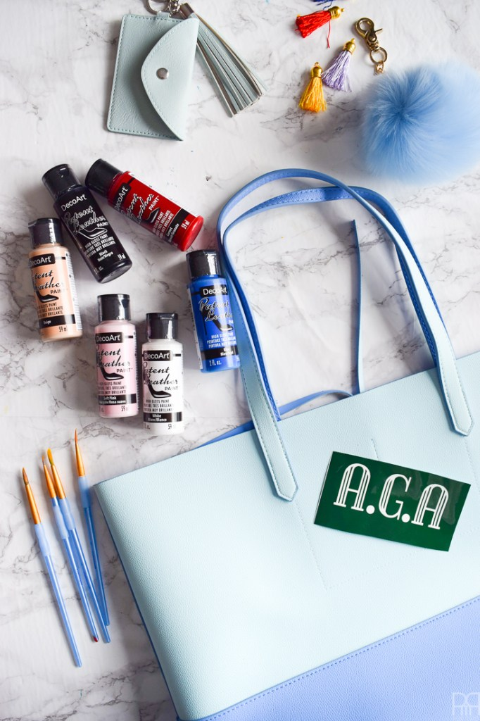 Chic and glam luggage doesn't have to cost a fortune. My Monogramed & Numbered Luggage DIY is easy enough for anyone to do and customize for their own needs. I made mine using DecoArt's Patent Leather Paint and my Cricut Explore Air 2 and their brand of faux leather.
