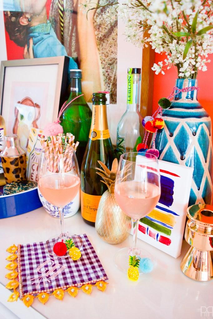 Pineapple Wine Glass Charms