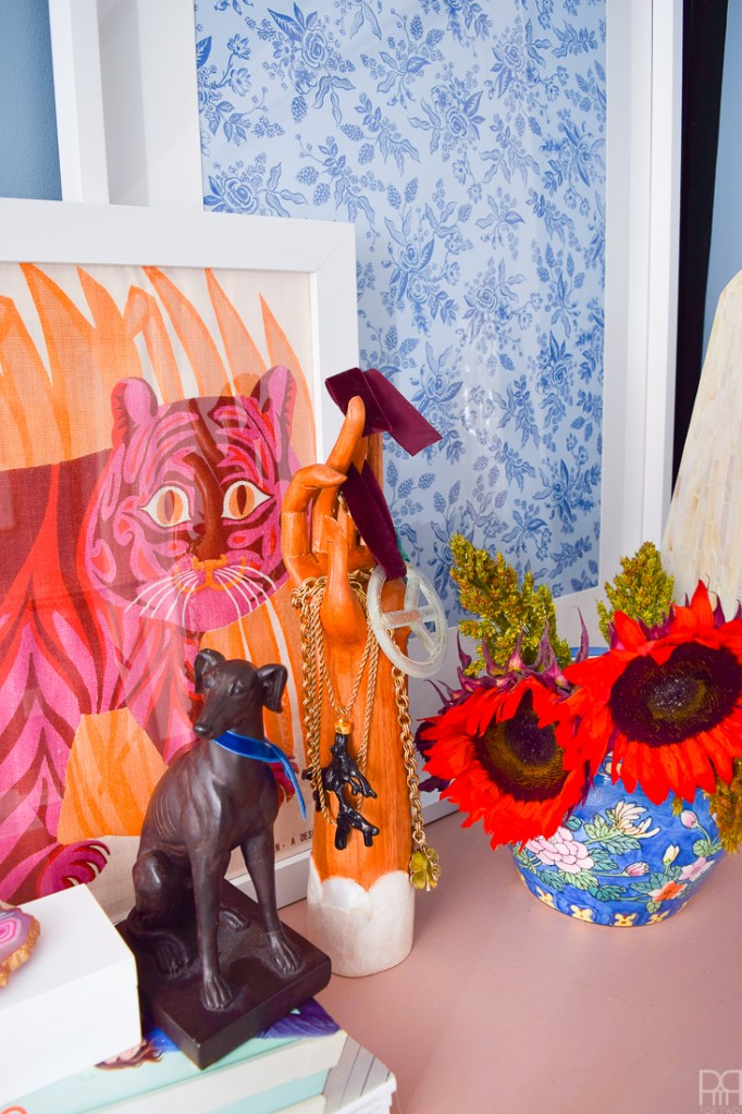 Kate Spade Inspired MasterDo you love bold colours, maximalist decor, curated style and pets? Then this Kate Spade Inspired Master Bedroom is for you! I've fused the best of my style, painting techniques and decor to create a stunningly intimate master bedroom in our rental that doesn't break the budget or make the space feel too small. Bedroom